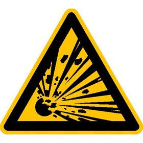 Warnschild Warnung vor explosionsgefährlichen Stoffen