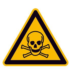 Warnschild Warnung vor giftigen Stoffen