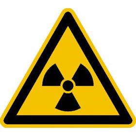 Warnschild Warnung vor radioaktiven Stoffen oder ionisierender Strahlung