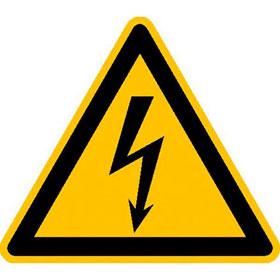 Warnschild auf Rolle Warnung vor elektrischer Spannung