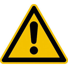 Warnschild Warnung vor einer Gefahrstelle