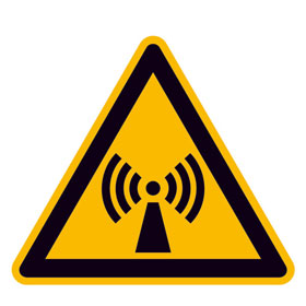 Warnschild Warnung vor nicht ionisierender Strahlung