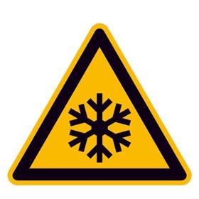 Warnschild Warnung vor niedriger Temperatur/Frost