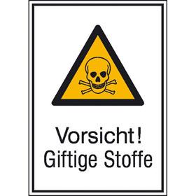 Warn-Kombischild Vorsicht! Giftige Stoffe