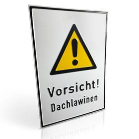 Warn-Kombischild Vorsicht! Dachlawinen