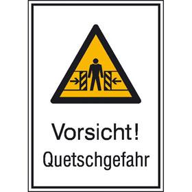 Warn-Kombischild Vorsicht! Quetschgefahr