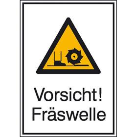 Warn-Kombischild Vorsicht! Fräswelle