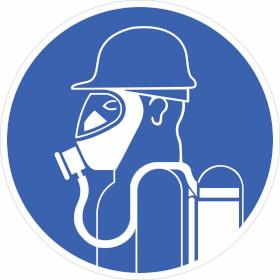 Gebotsschild Schweres Atemschutzgerät tragen