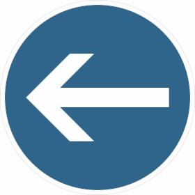 Verkehrsschild - Betriebskennzeichnung Richtungshinweis (Pfeil)