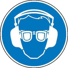 Gebotsschild Geh�r- und Augenschutz benutzen