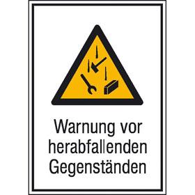 Warn-Kombischild Warnung vor herabfallenden Gegenständen