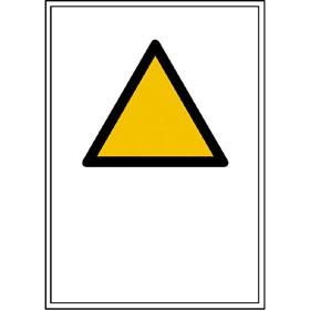 Warnkombischild mit Symbol und Text nach Wahl SL Symbol = 10 cm