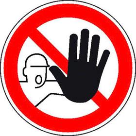 Verbotsschild Zutritt f�r Unbefugte verboten