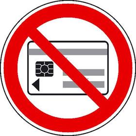 Verbotsschild Keine magnetischen oder elektronischen Datenträger