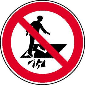Verbotsschild Betreten verboten Durchsturzgefahr