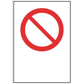 Verbots-Kombischild mit einem Verbotsschild (d = 10,0 cm)