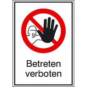 Verbots-Kombischild Betreten verboten