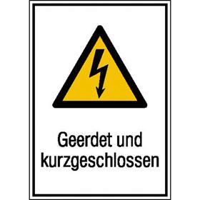 Warn-Kombischild Geerdet und kurzgeschlossen