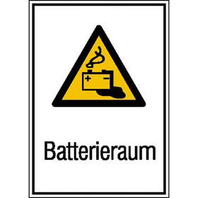 Warn-Kombischild Batterieraum