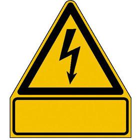 Warn-Kombischild Warnung vor gefährlicher elektrischer Spannung