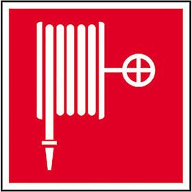 Brandschutzschild - nachleuchtend L�schschlauch