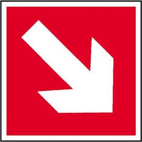 Brandschutzschild Richtungsangabe aufwärts / abwärts