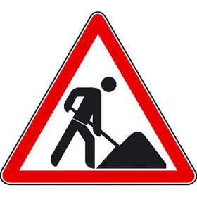 Hinweisschild zur Baustellenkennzeichnung Vorsicht Baustelle