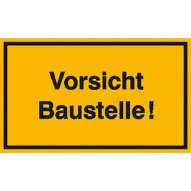 Hinweisschild zur Baustellenkennzeichnung Vorsicht Baustelle!