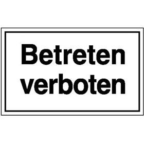 Hinweisschild - Betriebskennzeichnung Betreten verboten