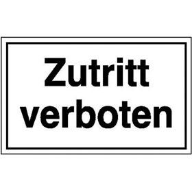 Hinweisschild - Betriebskennzeichnung Zutritt verboten