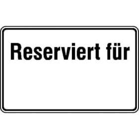 Parkplatzkennzeichnung / Hinweisschild Reserviert für ...