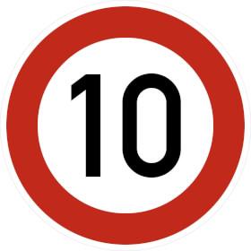 Verkehrszeichen - StVO Zulässige Höchstgeschwindigkeit