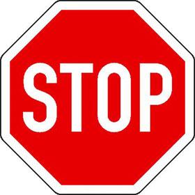 Verkehrsschild - Betriebskennzeichnung Halt! Vorfahrt gewähren