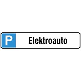 Parkplatzschild Symbol: P, Text: Elektroauto