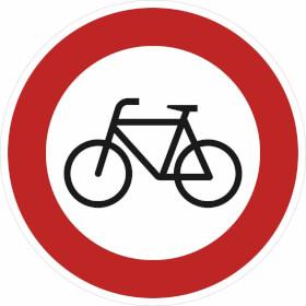 Verkehrsschild - Betriebskennzeichnung Für Radfahrer verboten