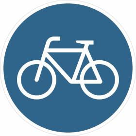 Verkehrsschild - Betriebskennzeichnung Sonderweg Radfahrer