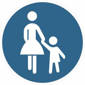 Verkehrszeichen - StVO Sonderweg Fußgänger