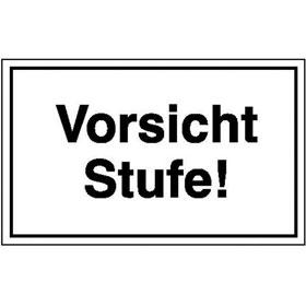 Hinweisschild - Betriebskennzeichnung Vorsicht Stufe!