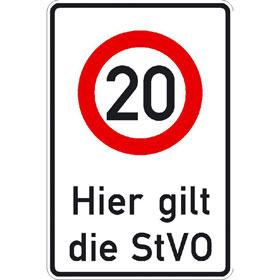 Verkehrsschild - Betriebskennzeichnung Zeichen: Zulässige Höchstgeschwindigkeit ...km/h