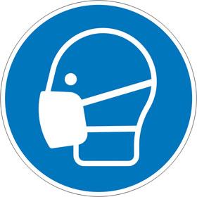 Gebotsschild Maske benutzen