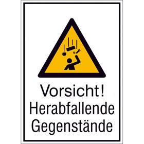 Warn-Kombischild Vorsicht! Herabfallende Gegenstände