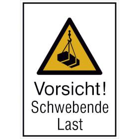 Warn-Kombischild Vorsicht! Schwebende Last