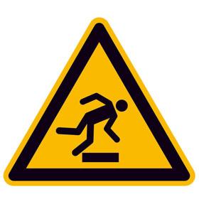 Warnschild Warnung vor Hindernissen am Boden