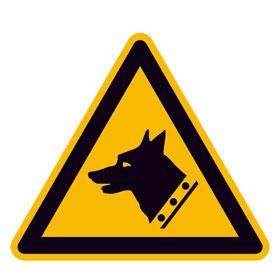 Warnschild Warnung vor Wachhund