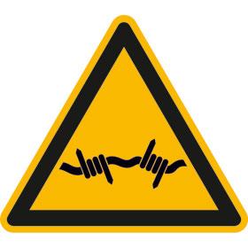 Warnschild Warnung vor Stacheldraht