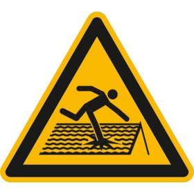 Warnschild Warnung vor nicht durchtrittsicherem Dach