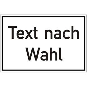 Kunststoffschild, mit Text nach Wahl Grundfarbe weiß, Schrift schwarz,