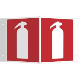 Brandschutzschild - Winkel - langnachleuchtend Feuerlöscher (International)
