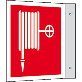 Brandschutzschild - Fahne - langnachleuchtend Löschschlauch