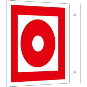 Brandschutzschild - Fahne - langnachleuchtend Brandmelder (manuell)